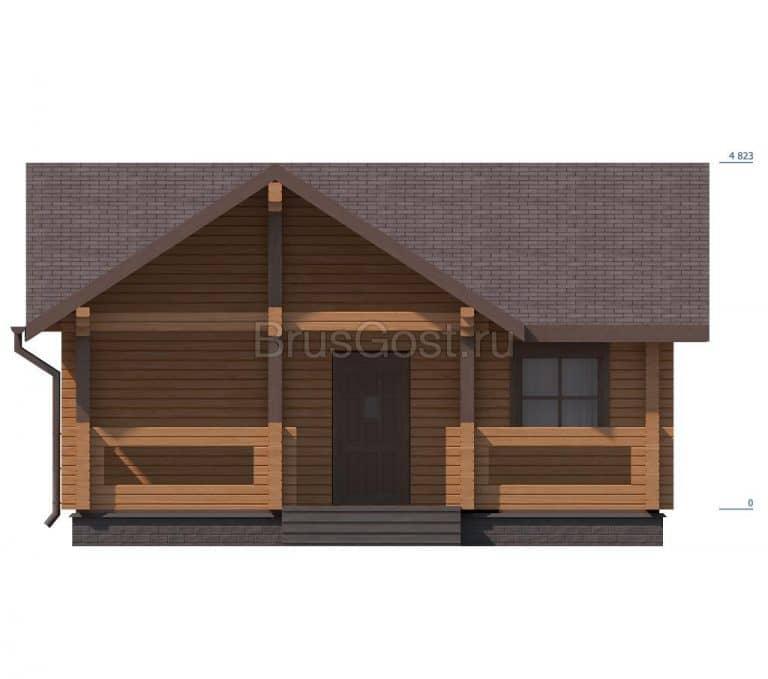 «Икша» — проект одноэтажного дома-бани из бруса