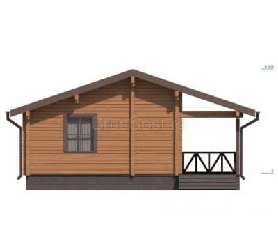 «Химки» — проект одноэтажного дачного дома с верандой из профилированного сухого бруса под ключ