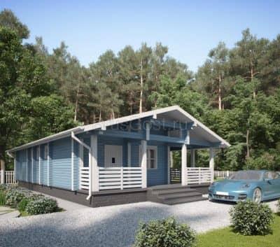Проект дома из бруса профилированного «Солнечногорск»