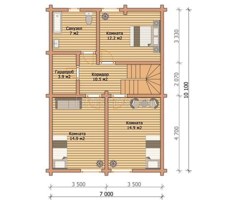 «Софрино» — современный дом-баня из профилированного бруса