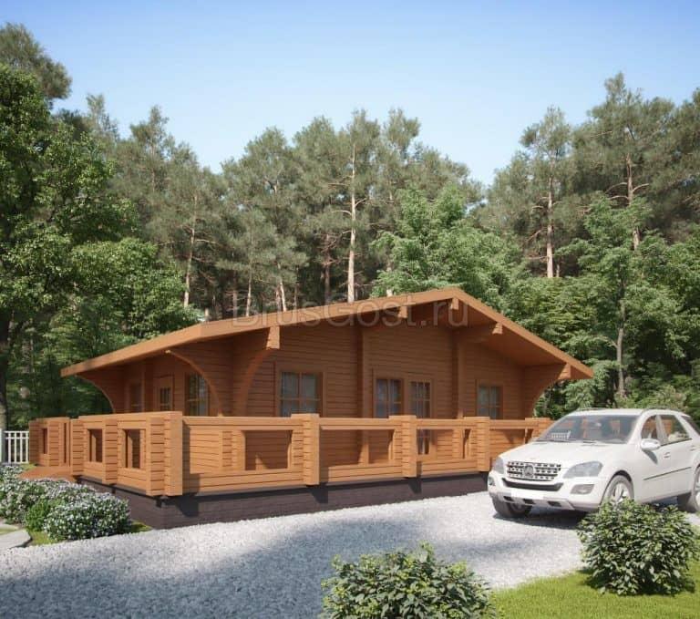 «Звенигород» — проект одноэтажного дома из бруса