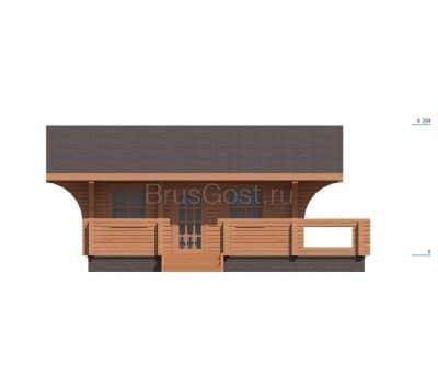 «Звенигород» — проект одноэтажного современного коттеджа для постоянного проживания из профилированного бруса под ключ