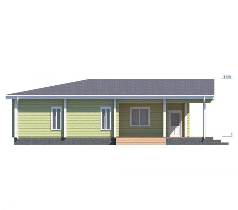 «Дмитров» — проект одноэтажного дома из бруса