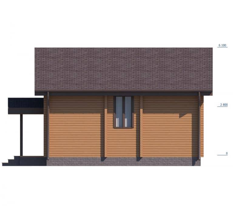«Голицыно» — проект двухэтажного коттеджа из бруса