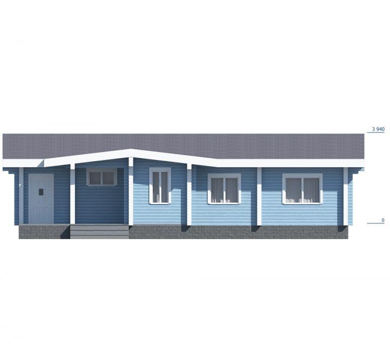 «Щелково» проект одноэтажного дома из бруса профилированного